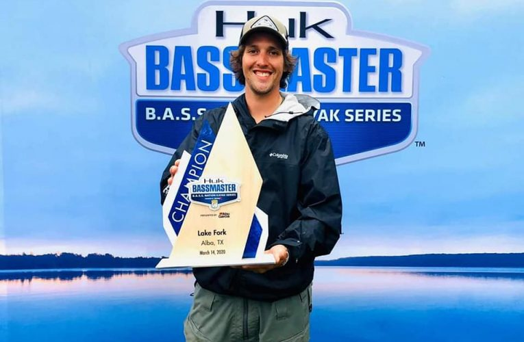 Cody Milton wins the BASS Nation Kayak Series Lake Fork Event